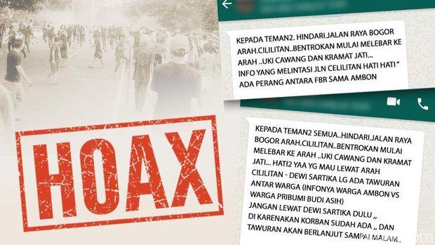 Informasi tawuran di Jalan Raya Bogor hoax