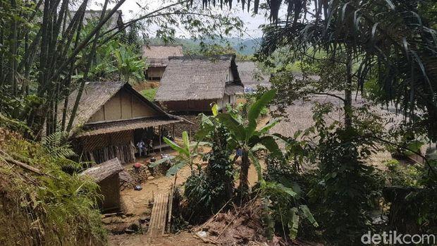 Perkampungan di dalam Baduy (Bahtiar/detikTravel)