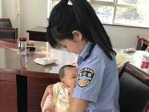 Foto Polwan yang Menyusui Bayi Terdakwa di Pengadilan Ini Jadi Viral