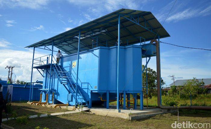 Begini penampakan penyediaan air minum di Tanjung Selor, Kalimantan Utara.