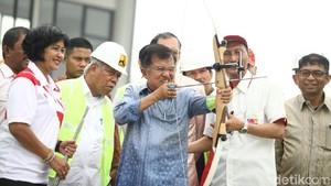 Jajal Memanah di Venue GBK, JK: Buat Persiapan Lawan Jokowi