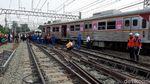 Lepas dari Rel, Begini Posisi Roda KRL Anjlok di Manggarai