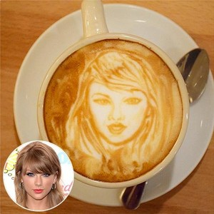 Wow! Latte Art Kopi Ini Bentuknya Mirip Taylor Swift Hingga Nick Jonas