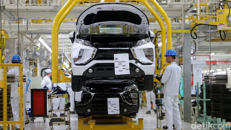 Pabrik Mitsubishi Xpander (Foto: Agung Pambudhy)