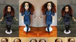 Barbie umumnya mewakili sosok wanita cantik berkulit putih. Tapi seniman ini membuat barbie dengan warna belang untuk menghargai orang dengan vitiligo.