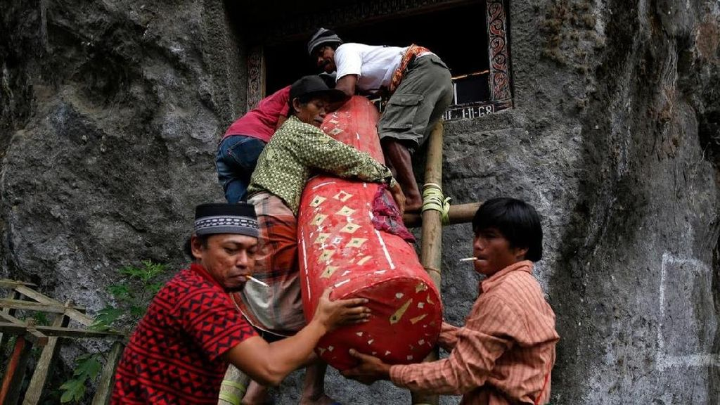 Melihat Manene, Ritual Mengganti Kain Jenazah di Toraja