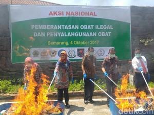 BPOM Semarang Musnahkan Obat Ilegal Senilai Rp 3,4 M