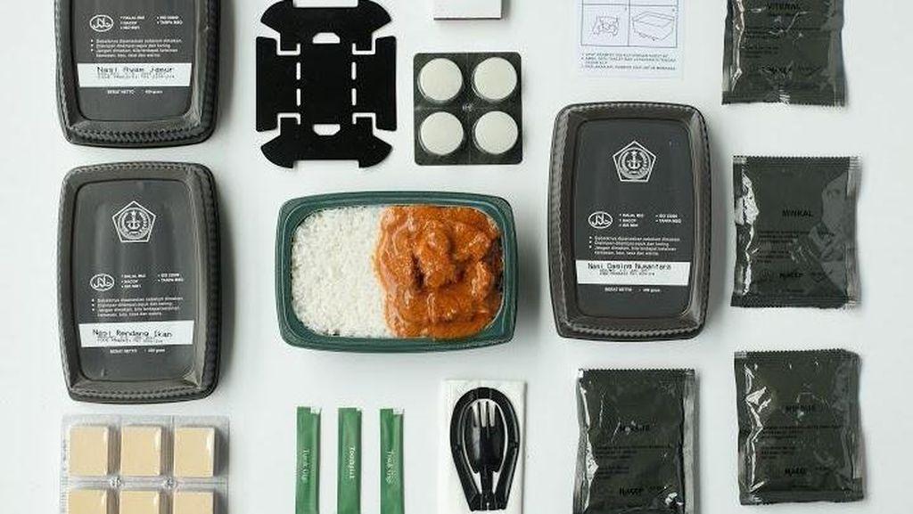 Nasi Daging Nusantara dan Nasi Kuning Ayam, Menu Ransum TNI yang Sedap dan Praktis