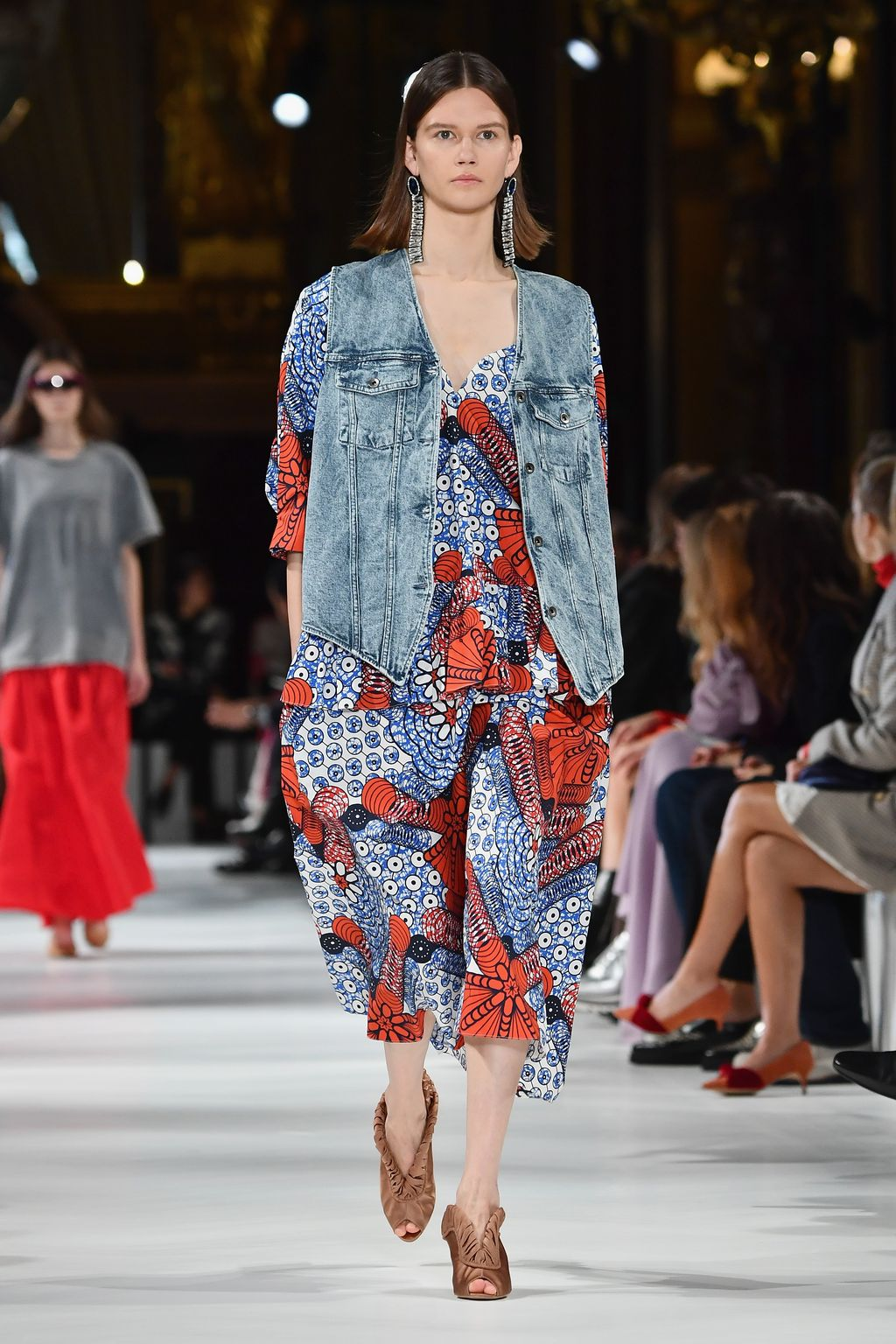 PARIS, FRANCE - OCTOBER 02:  A model walks the runway during the Stella McCartney show as part of the Paris Fashion Week Womenswear Spring/Summer 2018 on October 2, 2017 in Paris, France.  (Photo by Pascal Le Segretain/Getty Images)