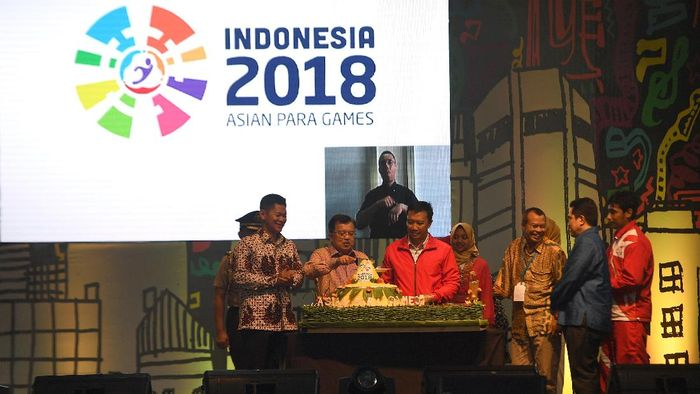 Acara hitung mundur Asian Para Games (Foto: Sigid Kurniawan/Antara Foto)