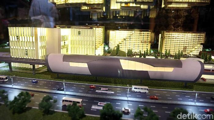 Walikota Bekasi, Rahmat Effendi melakukan Groundbreaking pembangunan apartemen di Kawasan LRT City JatiCempaka-Gateway Park, Kota Bekasi.