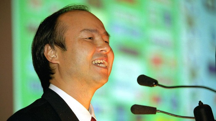 CHIBA, JAPAN - JUNE 18: Masayoshi Son, chairman and chief executive officer of SoftBank Corp speaks during a news conference on June 18, 2015 in Chiba, Japan. Softbank Corp. announced that its humanoid product, Pepper, developed by the companys Aldebaran Robotics unit, will be available for consumers at 198,000 yen on June 20, 2015. SoftBank Corp. also announced that  Alibaba Group Holding Limited and Foxconn Technology Group reached an agreement that Alibaba and Foxconn will each invest 14.5 billion in SoftBank Robotics Holdings Corp., to promote Softbanks robotic business including Pepper to the global market.  (Photo by Koki Nagahama/Getty Images)