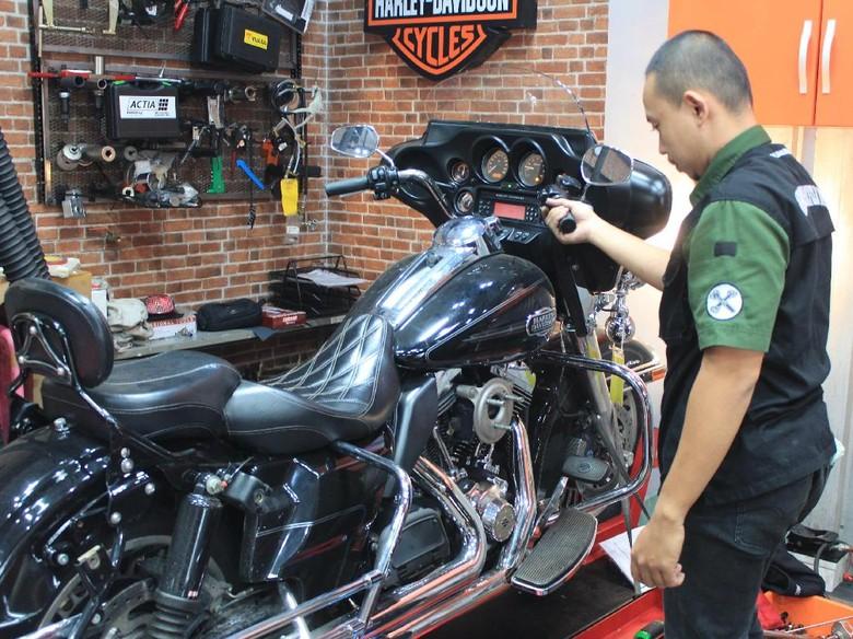 Bengkel umum Harley-Davidson Foto: Khairul Imam Ghozali