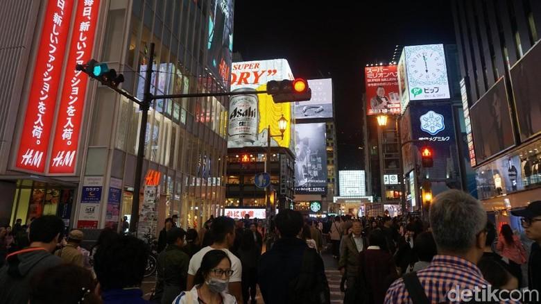 Salah satu sudut Kota Osaka, Jepang (Wahyu/detikTravel)