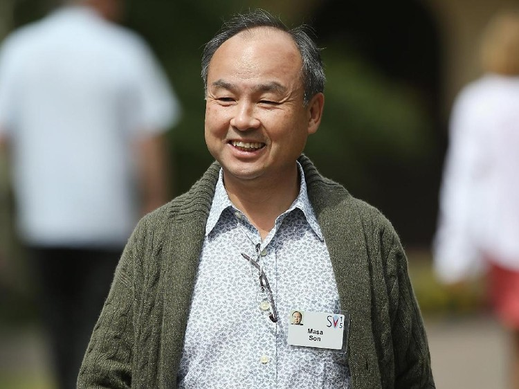 SUN VALLEY, ID - JULY 08: Masayoshi Son, founder and chief executive officer of SoftBank, the chief executive officer of SoftBank Mobile, and current chairman of Sprint Corporation, attends the Allen & Company Sun Valley Conference on July 8, 2015 in Sun Valley, Idaho. Many of the worlds wealthiest and most powerful business people from media, finance, and technology attend the annual week-long conference which is in its 33rd year.  (Photo by Scott Olson/Getty Images)