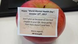 Setiap 10 Oktober dirayakan hari kesehatan mental dan tahun ini temanya adalah kesehatan mental di tempat kerja. Beberapa kantor merayakannya dengan cara unik.