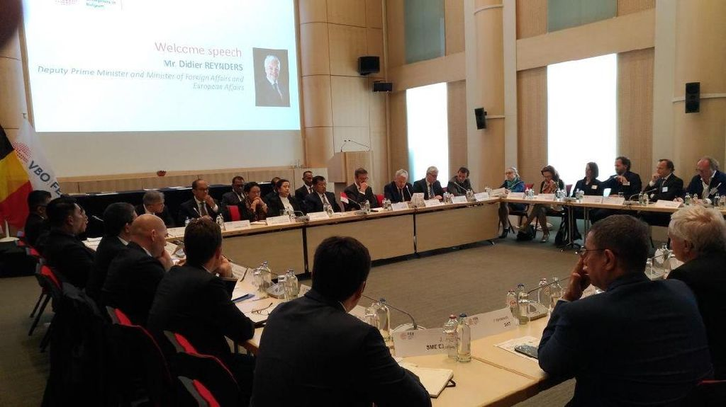 Bertemu KADIN Belgia, JK Bahas Soal Peluang Dagang RI-Uni Eropa