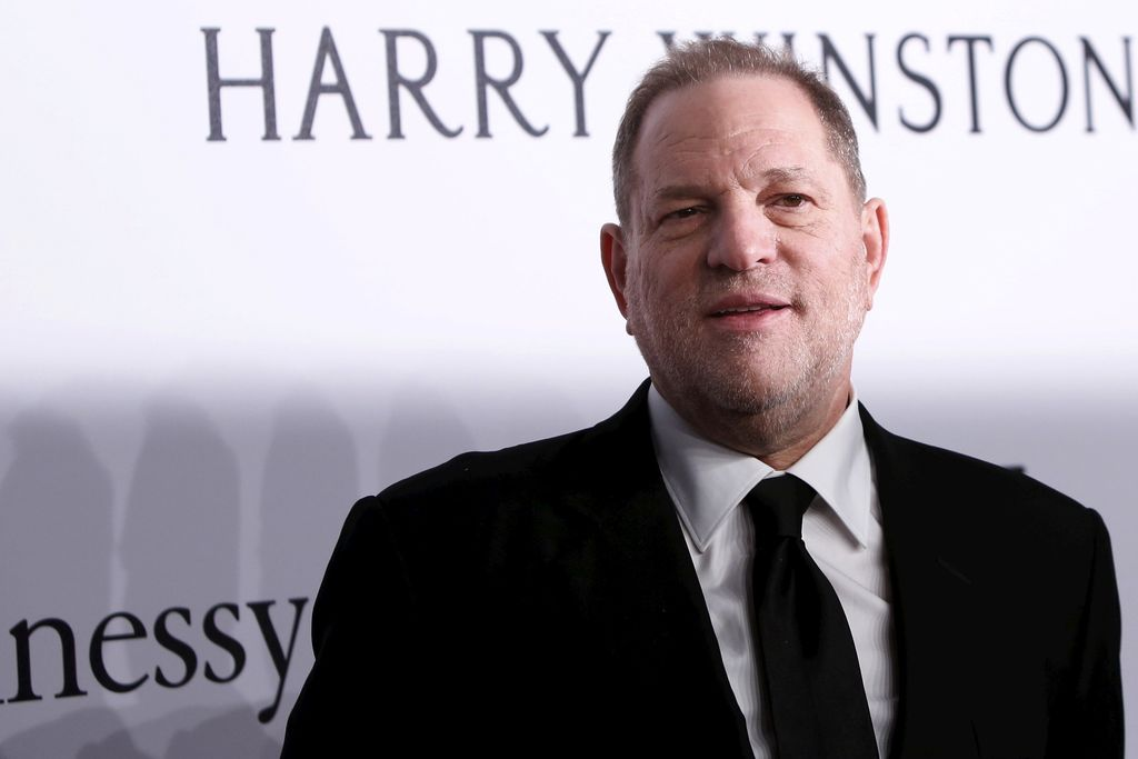 FILE PHOTO: Film producer Harvey Weinstein attends the 2016 amfAR New York Gala at Cipriani Wall Street in Manhattan, New York February 10, 2016. REUTERS/Andrew Kelly/File Photo