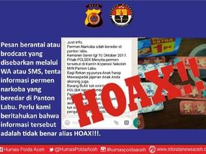 Polisi Aceh Kembali Tegaskan Permen Narkoba Adalah Hoax