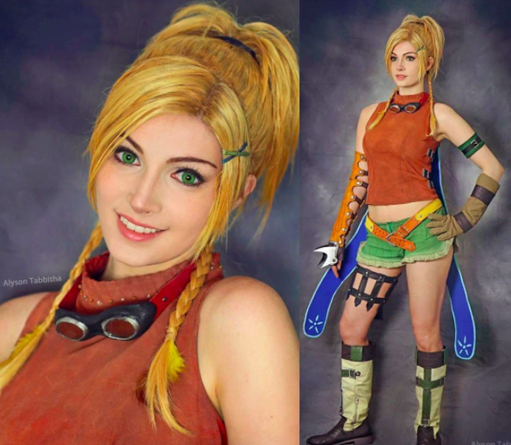 Namanya Allyson Tabbitha, cosplayer asal Florida Amerika Serikat. Ini saat dia berdandan ala karakter Rikku di Final Fantasy. Foto: Instagram
