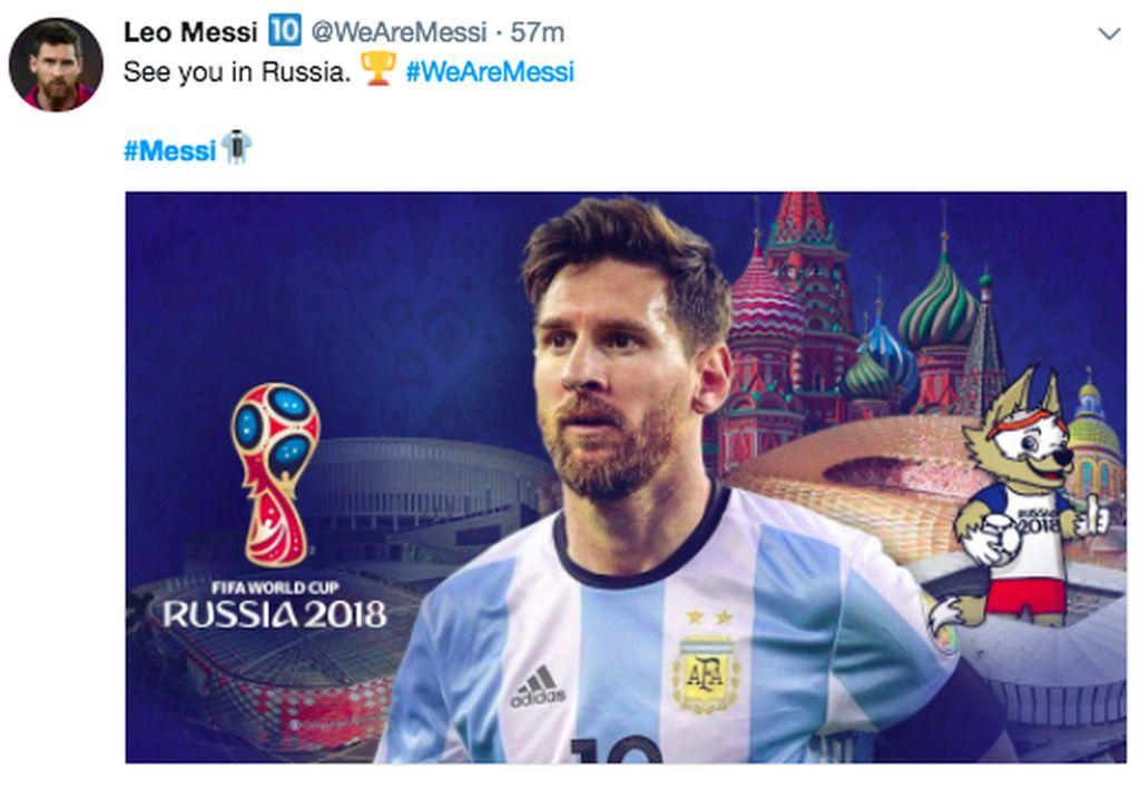 Ketinggalan lebih dulu, Messi berhasil mencetak hattrick ke gawang Ekuador dengan skor akhir 3-1. Argentina pun lolos ke Piala Dunia 2018 di Rusia. Foto: istimewa