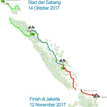 Kampanyekan Hidup Sehat, 30 Orang Akan Gowes 3.000 Km Sabang-Jakarta