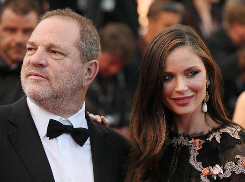 Harvey Weinstein dan istrinya, desainer Georgina Chapman.