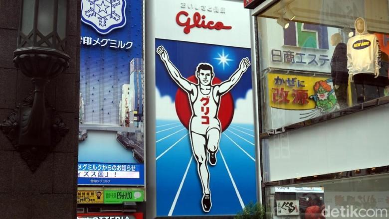 Glico Man Sign, ikonnya kawasan Dotonbori (Wahyu/detikTravel)