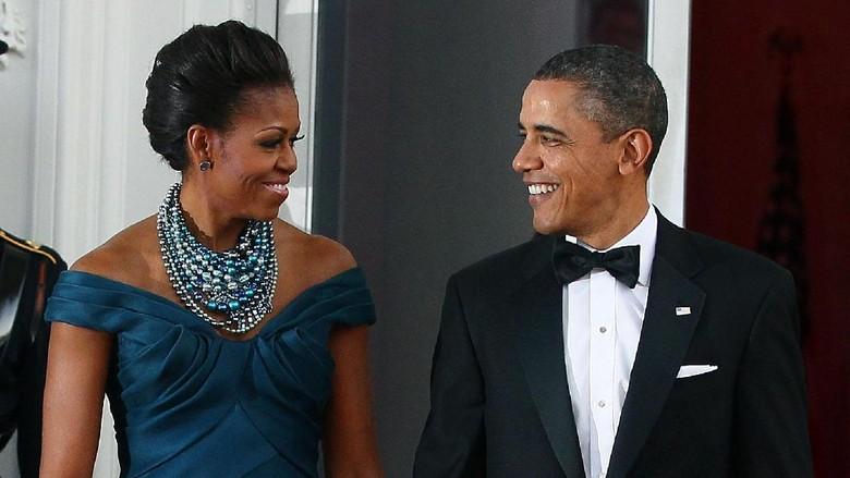 Foto Throwback Plus Ucapan Manis Barack Obama Saat Istri Ultah/Foto: Getty Images