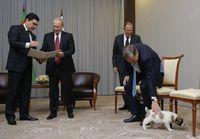 Anak anjing Virny mencuri perhatian dalam pertemuan itu