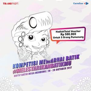Kompetisi Mewarnai Lestarikan Batikmu di Transmart Carrefour