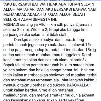 Status Misnadi Abdullah