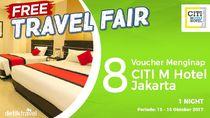 #FreeTravelFair : Voucher Menginap di Citi M Hotel Jakarta