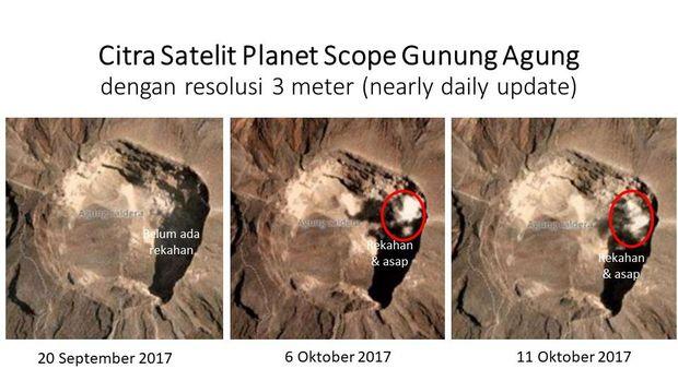 Foto satelit Gunung Agung/ Istimewa
