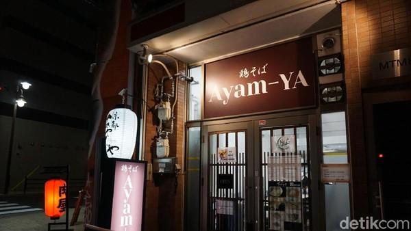 Kedai Ramen Ayam-ya punya beberapa cabang di Jepang. Salah satu yang saya temui ada di kawasan Nipponbashi, Osaka, Jepang. Inilah kedai ramen halal yang bisa traveler coba kalau traveling ke Jepang (Wahyu/detikTravel)