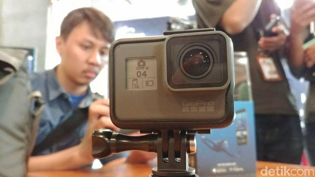 Hero6 adalah action cam GoPro yang mempunyai fitur unggulan yaitu prosesor Custom Designed GP1. (Foto: detikINET/Anggoro Suryo Jati)