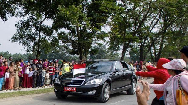 Mobil kepresidenan, di Simalungun, Sumatera Utara, beberapa waktu lalu.