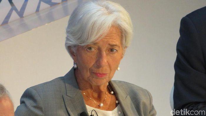 Direktur Pelaksana International Monetary Fund (IMF), Christine Lagarde (Foto: Maikel Jefriando-detikFinance)