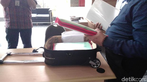 Madun Hariyadi mendatangi kantor Direktorat Tindak Pidana Korupsi (Tipikor) Bareskrim Polri