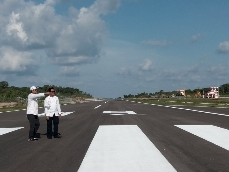 Runway Bandara Harun Thohir Sulit Diperpanjang