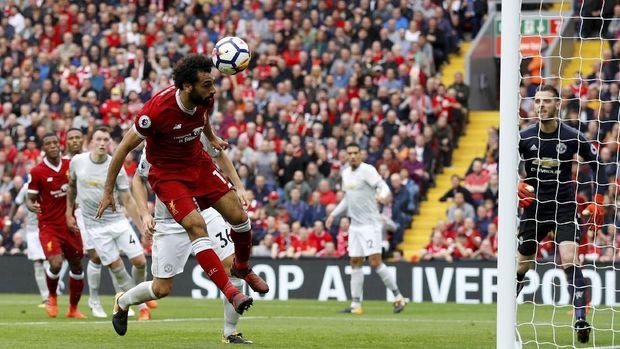 Mohamed Salah akan menjadi ancaman lini pertahanan Manchester United.