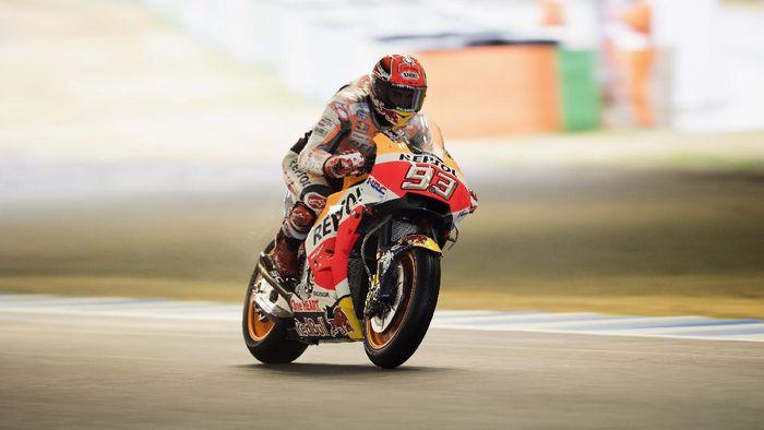 Marc Marquez tercepat di sesi latihan bebas ketiga MotoGP Jepang (Foto: Mirco Lazzari gp/Getty Images)