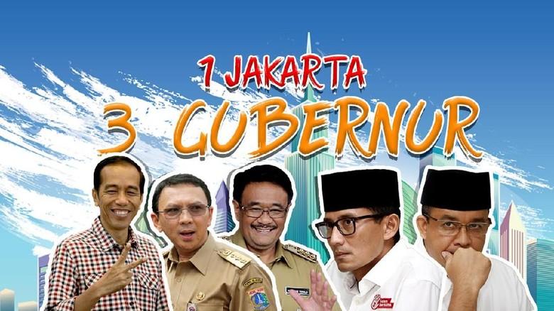 Kiprah 3 Gubernur DKI Jakarta Dalam Satu Periode