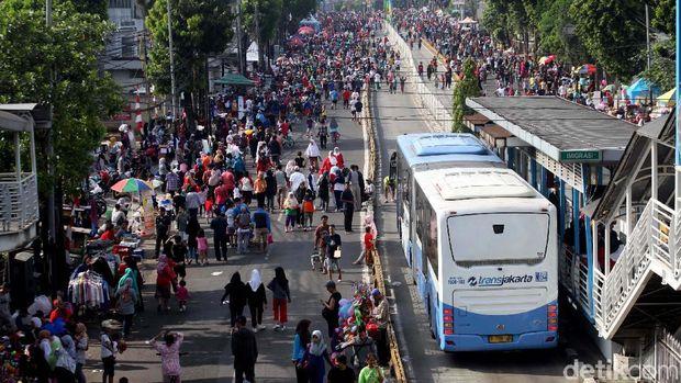 Suasana saat CFD di Mampang.