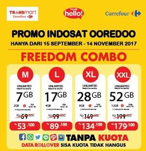 Promo Pulsa Indosat Ooredoo di TransHello Transmart Carrefour