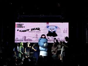 Gemas! Krunk Beruang Maskot YG Gelar Fanmeeting di Jakarta