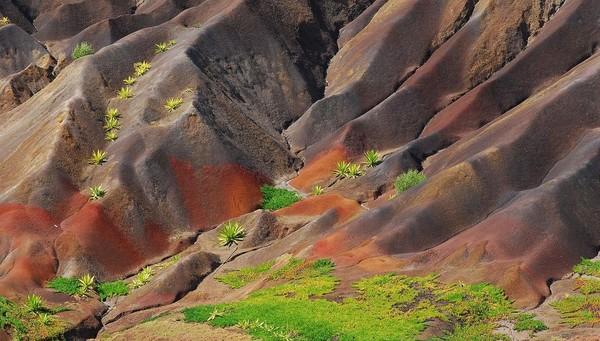 Pantai di St Helena masih perawan dengan lanskap bukit-bukit dan alam bawah laut yang cantik pula. Sudah lama penduduk setempat dan wisatawan menunggu pendaratan pesawat komersial dan setahun belakangan baru terwujud (Dok. CNN Travel)