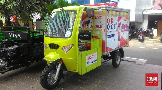 Motor box roda tiga sebagai bagian kendaraan OK OCE.