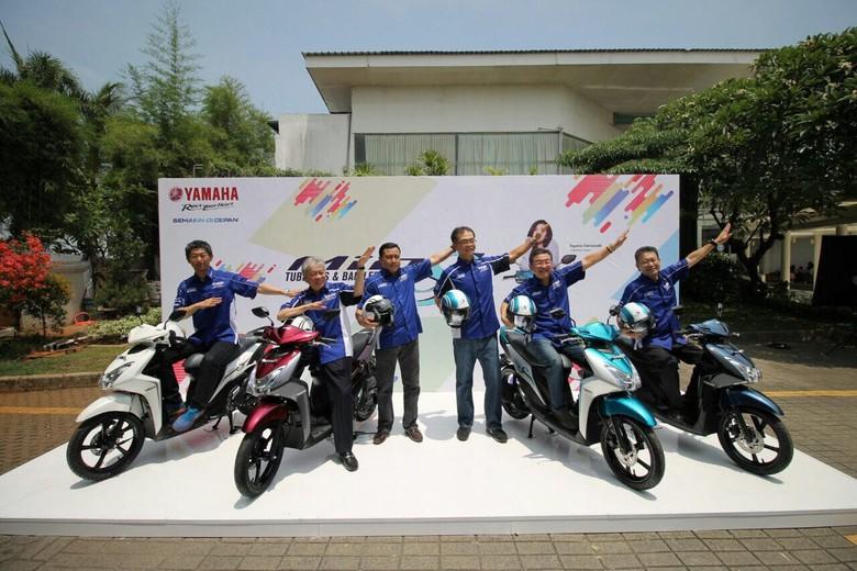 Mio S Tubeless & Ban Lebar 125cc Blue Core (Foto: dok. Yamaha Indonesia)