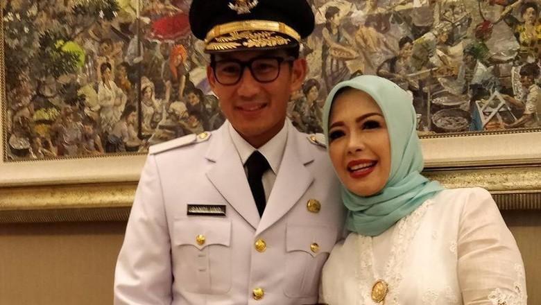 Nur Asia Uno dan suaminya Sandiaga Uno/ Foto: Dok. Instagram @nurasiauno